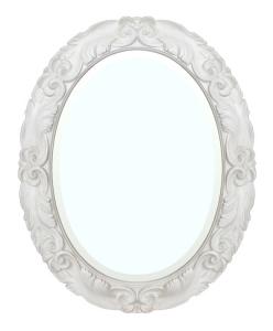 Wandspiegel oval mit Rahmen Moonlight