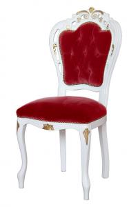 Chaise classique en hêtre massif détails en or