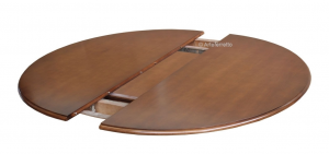 Table salle à manger bicolore - diamètre 120 cm