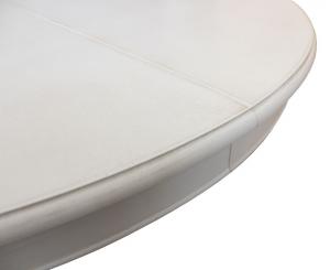 Table laquée ronde avec allonge - diamètre 120 cm