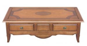 Table basse rectangulaire marquetée