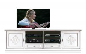 TV-Lowboard 2 Türen mit Dekor