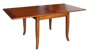 Table carrée extensible marquetée en chêne