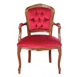 Fauteuil Louis XV capitonné