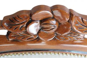 Fauteuil sculpté Fleur