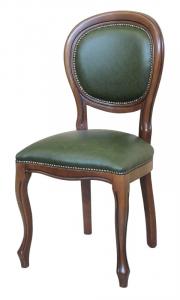 Chaise Louis Philippe en cuir véritable