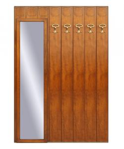 Garderobenpaneel mit Spiegel aus Holz