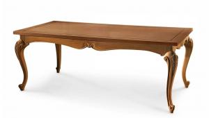 Table rectangulaire pieds modelés 220x110 cm