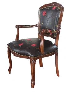 klassischer Sessel Blumenmuster Ecoflowers