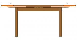Tisch ausziehbar 120-200 cm
