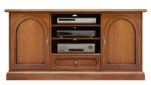 TV-Schrank Holz 130 cm mit Sockelleiste