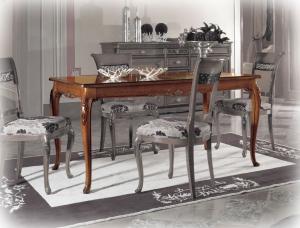 Table de Salle à manger classique sculptée 160-250 cm