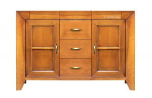 Buffet merisier 2 portes 5 tiroirs