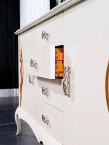 Sideboard mit Dekor 4 Schubladen