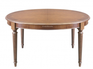 Table ovale Style Louis XVI avec allonges