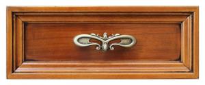 Bureau 5 tiroirs laqué plateau en cuir