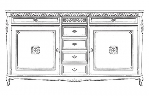 Buffet grandes dimensions Classic Lux