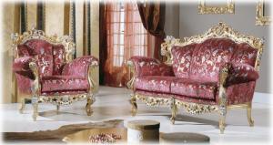 Sofa King Schnitzarbeit und Blatt