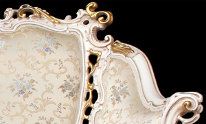 Sofa 3 Plätze Luxus Gold & Silber