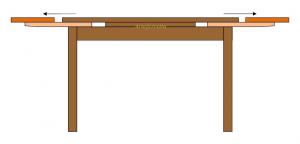 Table à manger bicolore extensible 120-200 cm
