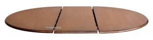 Table à manger ovale dessus marqueté 160-210 cm