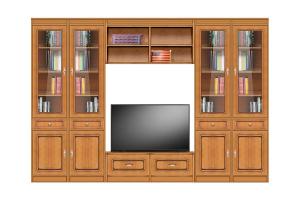 Klassische Wohnwand TV-Möbel - Kollektion Eco