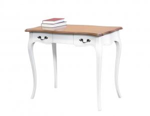 Schreibtisch 90 cm breit zweifärbig