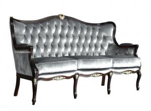 Klassisches Sofa 3-Sitzer Capitonné Smaragd