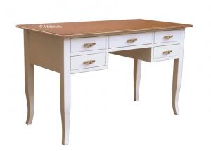 Schreibtisch 5 Schubladen zweifarbig
