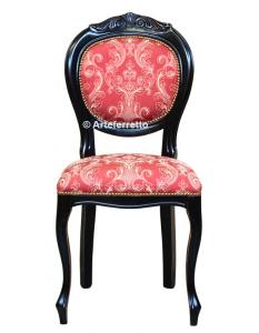 Chaise sculptée finition noir