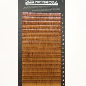 Ciglia per Extension Ombre Arancione-Viola CC0,10mix