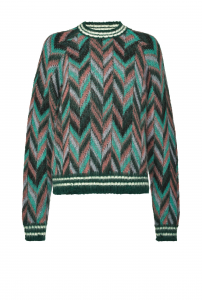 SHOPPING ON LINE PINKO PULLOVER JACQUARD CHEVRON SOTTOSUOLO NEW COLLECTION WOMEN'S FALL WINTER 2020/2021