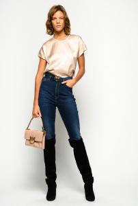 SHOPPING ON LINE PINKO JEANS SKINNY CON CINTURA LOVE BIRDS SUSAN 8 NEW COLLECTION WOMEN'S FALL WINTER 2020/2021
