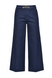 SHOPPING ON LINE PINKO JEANS A PALAZZO SLIM IN DENIM TWILL STRETCH PEGGY 3 NEW COLLECTION WOMEN'S FALL WINTER 2020/2021