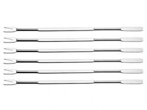 6 forchettine in acciaio per crostacei