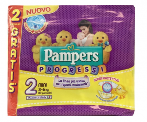 PAMPERS PROGRESSI MINI TG.2 (X28) 2020 2730236 FATER