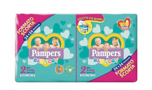 PAMPERS BABY DRY DUO MINI TG.2 (X48) 2020 2730053 FATER