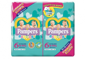 PAMPERS BABY DRY DUO XL TG.6 (X30) 2020 2730057 FATER