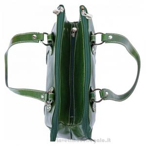 Borsa Verde a Spalla in pelle lucida - 6541 - Pelletteria Fiorentina