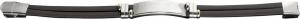 Bracciale nero in acciaio cm.21x1,1x0,8h