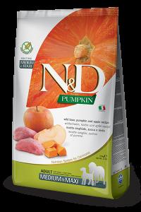 FARMINA N&D PUMPKIN ADULT MEDIUM E MAXI ZUCCA, CINGHIALE E MELA GRAIN FREE