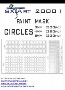 Mask Circles 3mm (330x), 4mm (280x), 5mm (220x)