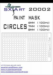 Mask Circles 6mm (100x), 7mm (100x), 8mm (100x)
