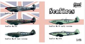 Mk.IIc, Mk.III, Mk.XV early, Mk.XV late, Mk.XVII Seafires