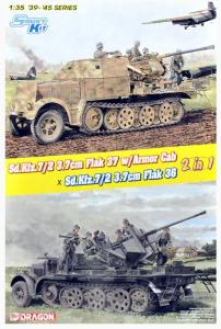 Sd.Kfz.7/2 3.7cm Flak37 w/Armored Cab x Sd.Kfz.7/2 3.7cm Flak36