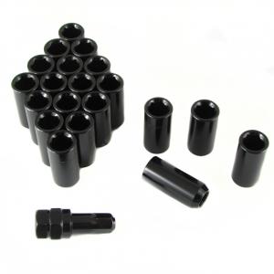 Set of BLACK LONG imbus lug nuts 12x1,25 + Key