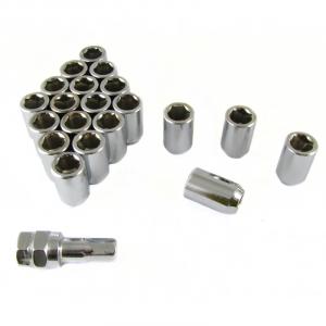 Set of SILVER imbus lug nuts 12x1,25 + Key