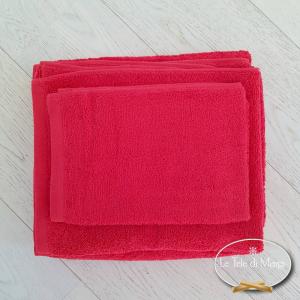 Asciugamani tinta Unita Rosso
