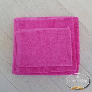 Asciugamani tinta Unita Fuxia