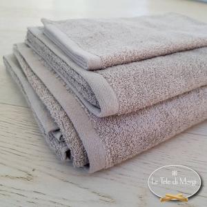 Asciugamani tinta Unita Tortora